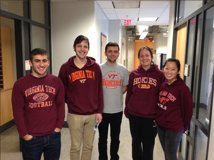 Left to right: Sebastian Wellford, Chase Heltzel, Mark Langowski, Jennifer Zornjak, Emily Phung